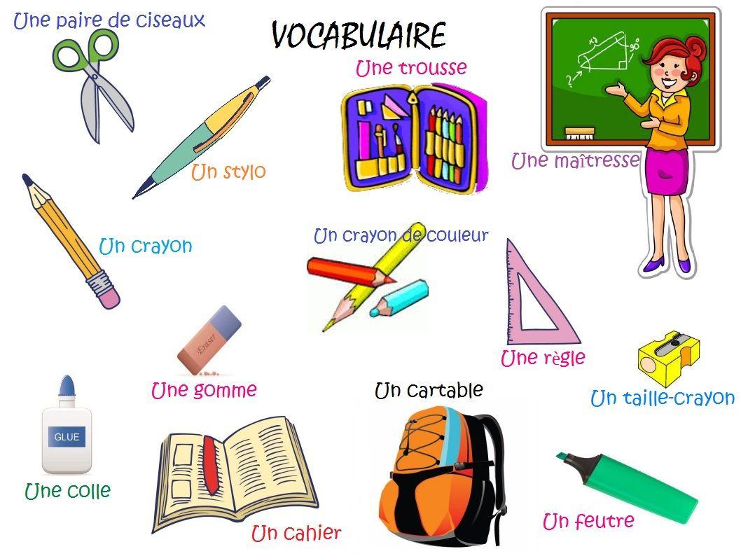 Connu Jupiter à l'école. Vocabulaire: fournitures scolaires | Learning  LC24
