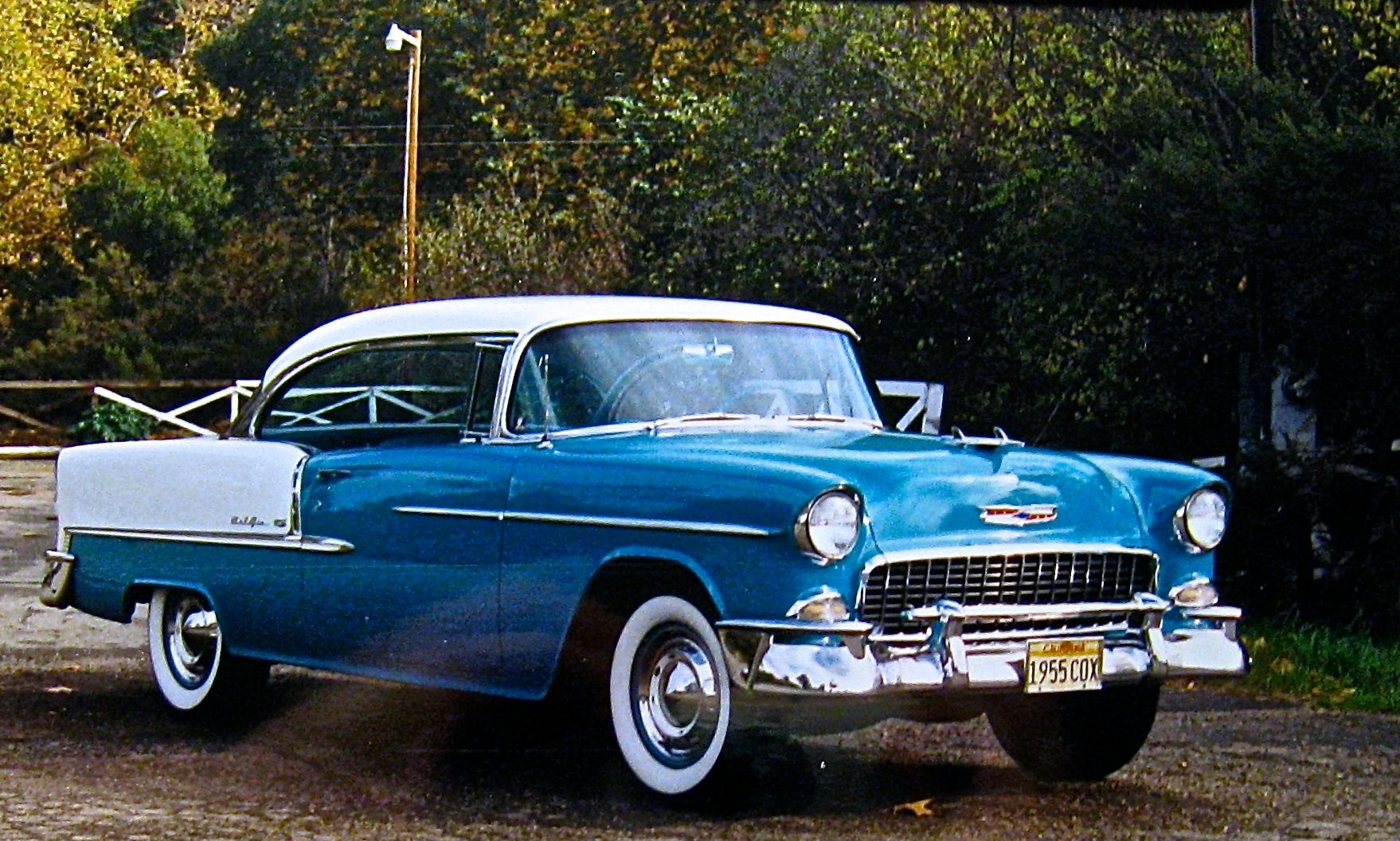 1955 Chevrolet Belair In Regal Turquoise And India Ivory The