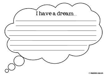 008 Martin Luther King, Jr. Writing Craftivity {I Have a Dream
