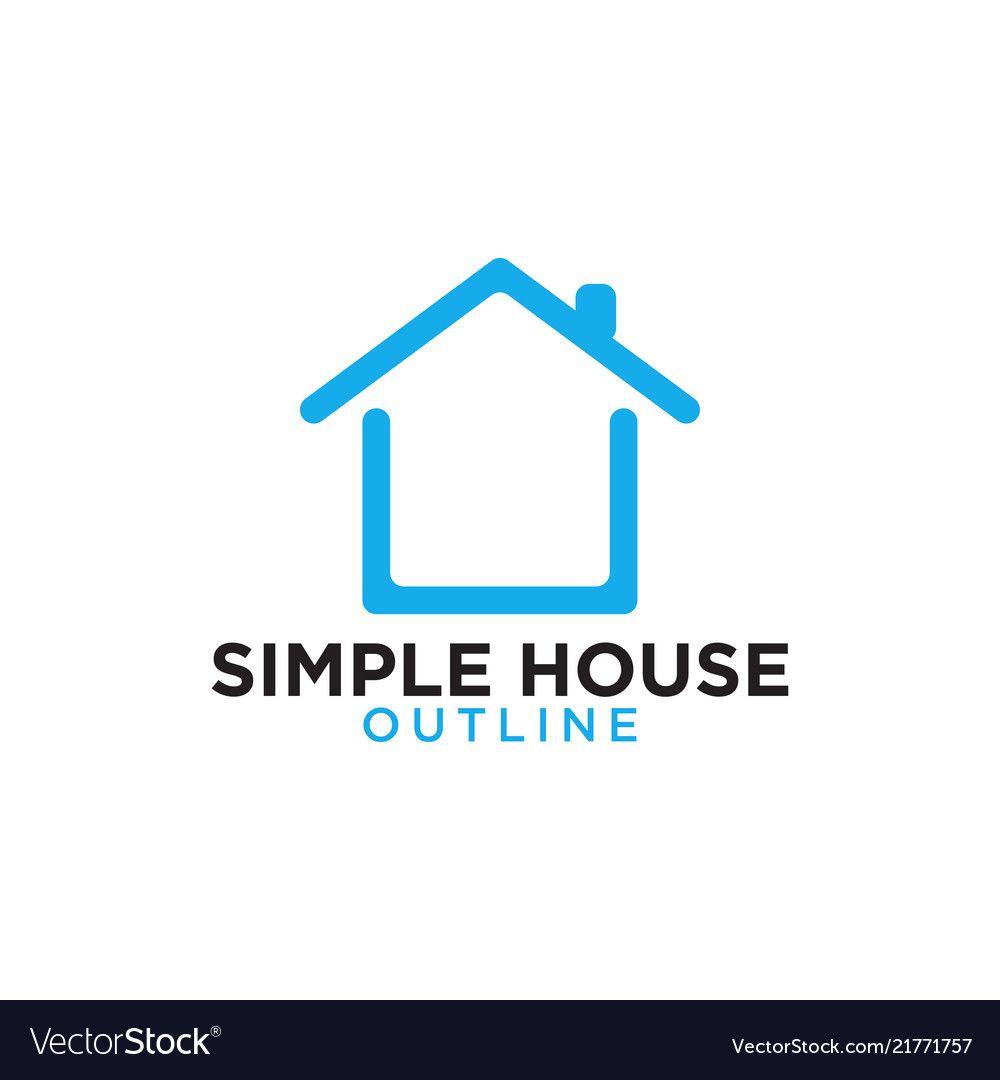 Simple House Design Logo in 2020   House logo design, Home ...