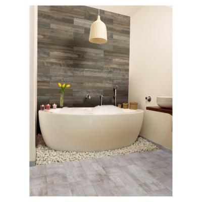 MARAZZI Montagna Wood Weathered Gray 6 In. Porcelain Floor And Wall Tile  Sq. / Case) At The Home Depot   Mobile Part 52