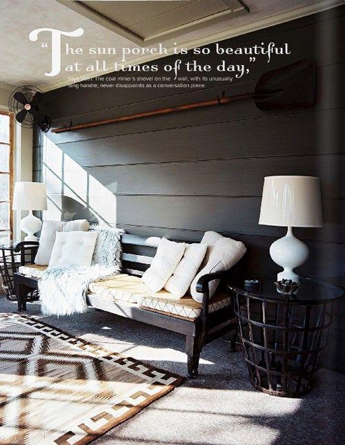 sun porch...paint siding?