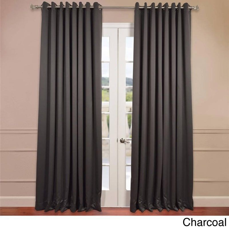 Exclusive Fabrics Extra Wide Thermal Blackout Grommet Top 120 Inch