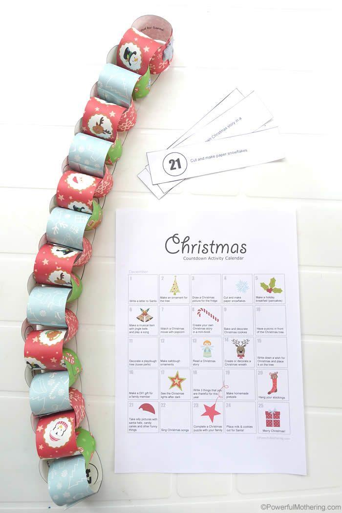Easy Christmas Activity Countdown Calendar Countdown calendar