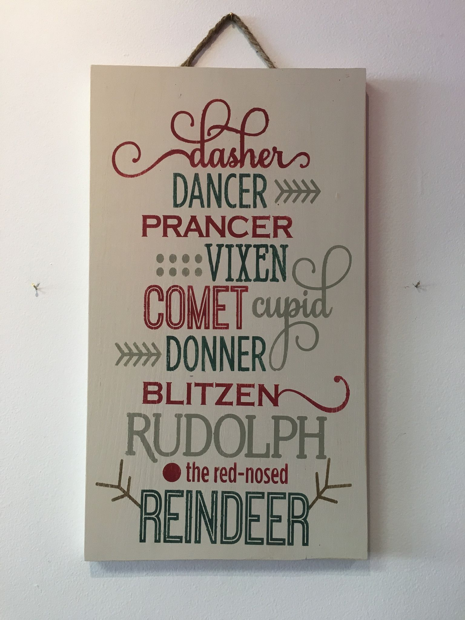 Reindeer christmas wooden sign diy wooden signs pinterest