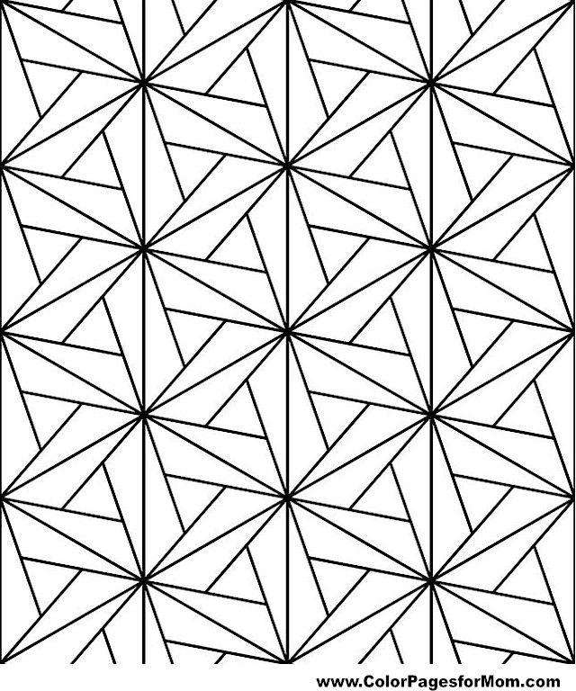 geometric coloring page 73 - Coloring Pages Designs Shapes