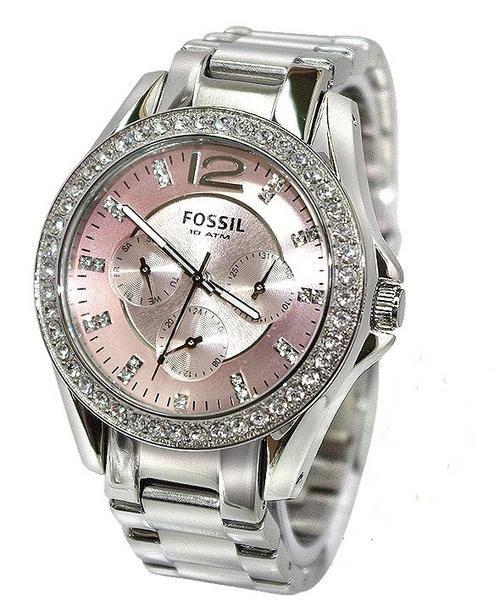 580f6fbf19db Women s Watches -     FOSSIL GLITZ PINK BOYFRIEND WOMEN S WATCH - ES2251