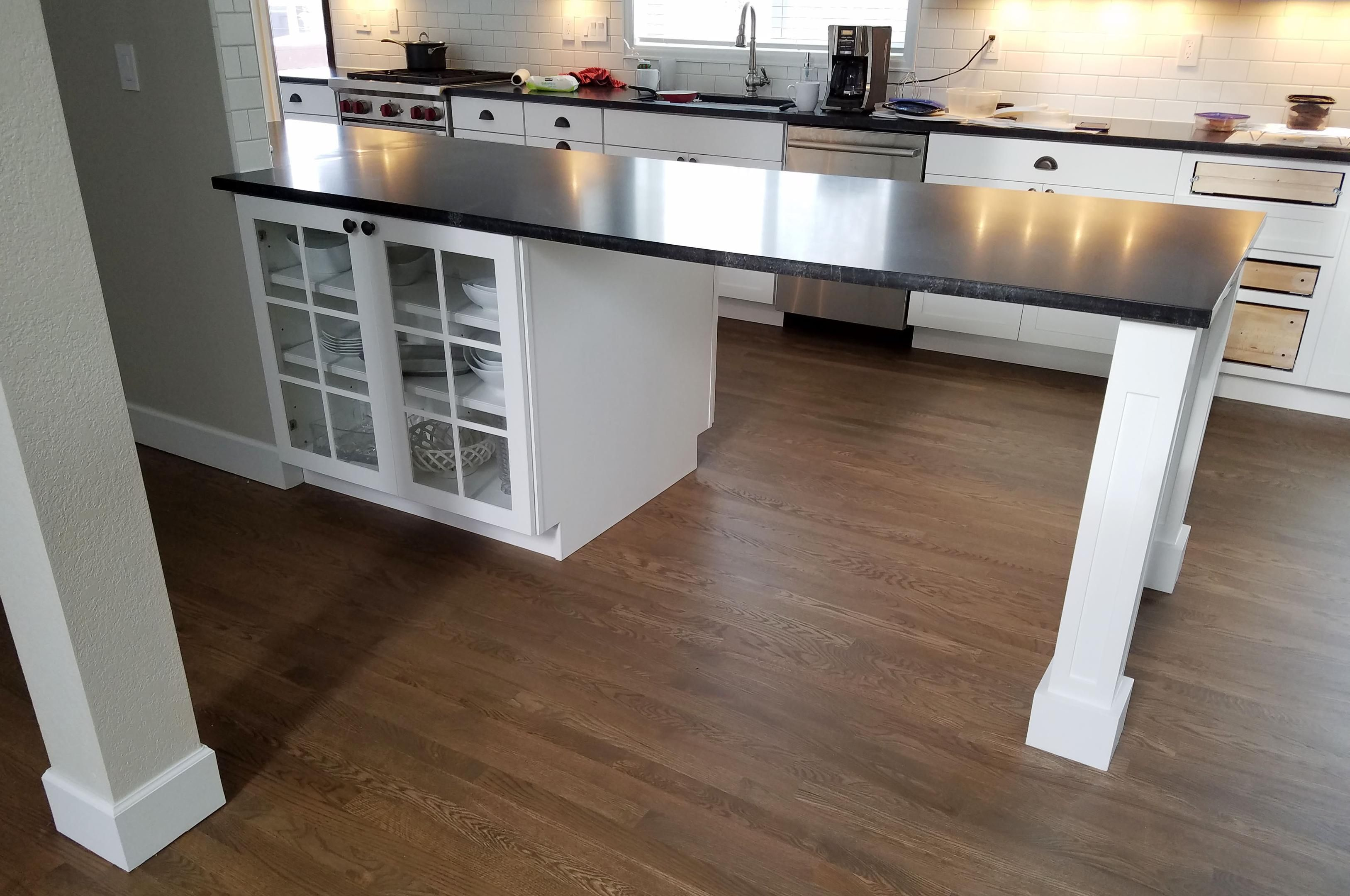 Pin By Cathy On Kitchen Ideas And Decor Countertops Granite Countertops Hardwood Floors In Kitchen