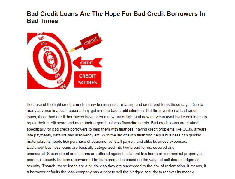 Get Fast Bad Credit Business Loans With Quick Funding Approval At Affordable Rates Get Your Business Credit Rep Business Loans Loans For Bad Credit Bad Credit