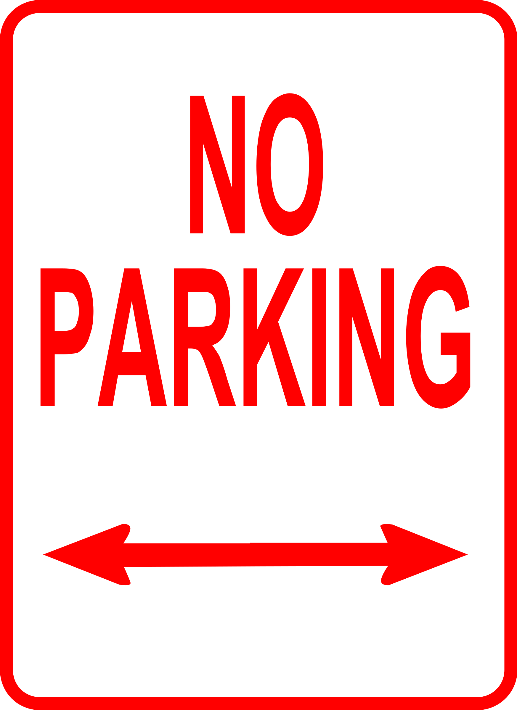 Sign No Parking By Leomarc Sign No Parking On Openclipart Parking Signs Clip Art Signs
