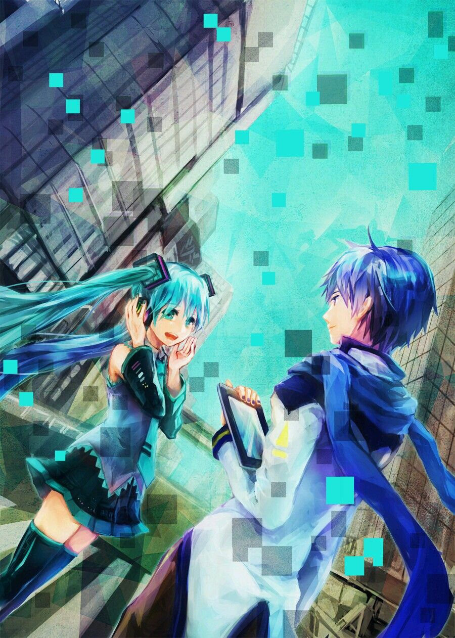 hatsune miku vocaloid kaito shion love couple music tablet kaimiku