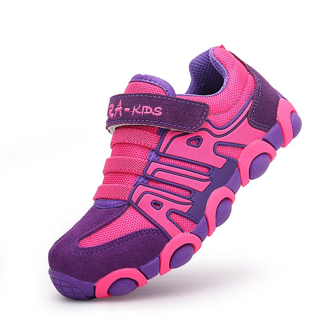 0c034aa26944f1 O N Boys Girls Athletic Sneakers Mesh Velcro Lightweight Sport Casual Running  Shoes for Kids Rose 12.5