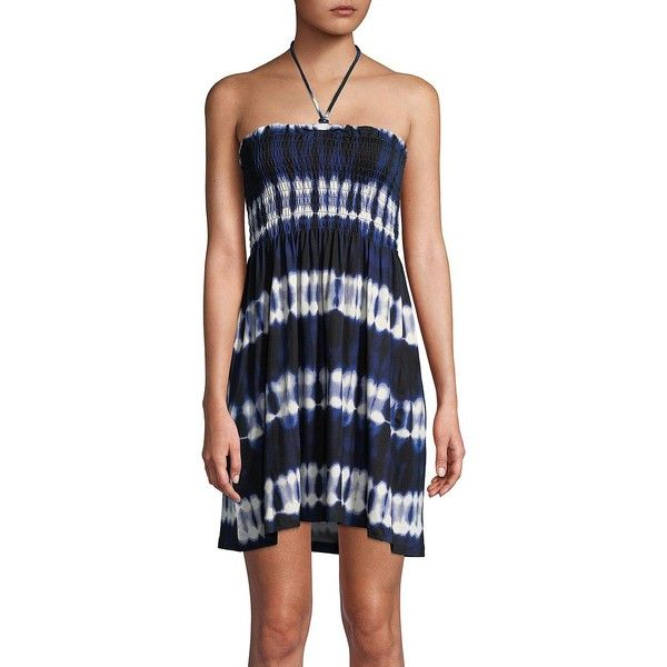 bf099ff1e780 J Valdi Women's Striped Smocked Tube Dress ($37) ❤ liked on Polyvore  featuring dresses