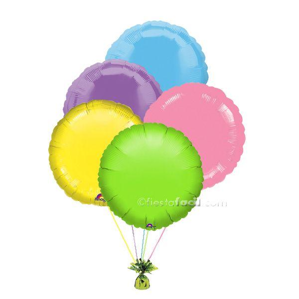 Un precioso ramillete de globos para decorar tu fiesta Peppa Pig - de www.fiestafacil.com, $19.95 ya inflado / A lovely balloon bouquet to decorate your Peppa Pig party - from www.fiestafacil.com