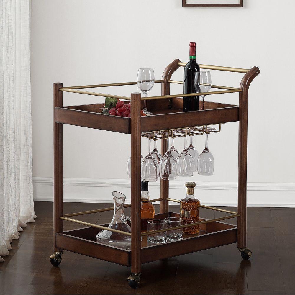 i love living wood bar cart by i love living bar carts wood bars and bar. Black Bedroom Furniture Sets. Home Design Ideas