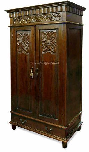 armarios roperos coloniales | Puertas | Pinterest | Armario ropero ...