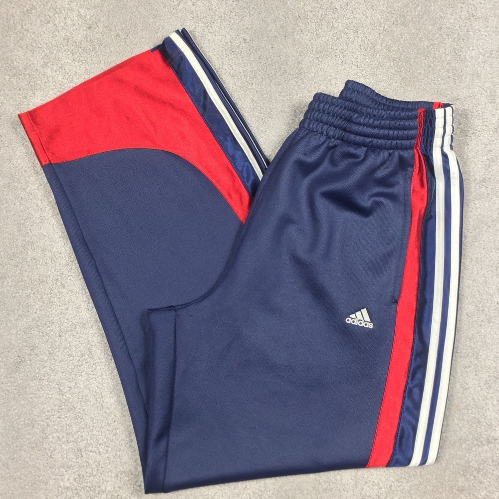 ADIDAS Trefoil Men's Medium Shiny Basketball Track Pants
