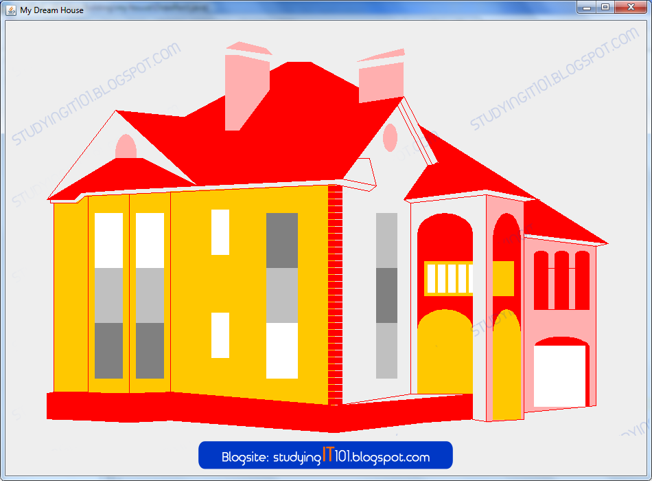 How To Draw A House In Java Programming Using Textpad Visual Basic