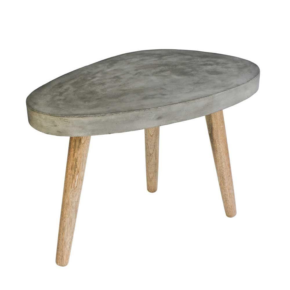 Couchtisch Greyment In Nierenform Aus Beton Couchtisch Sofa Beistelltisch Wohnzimmertische