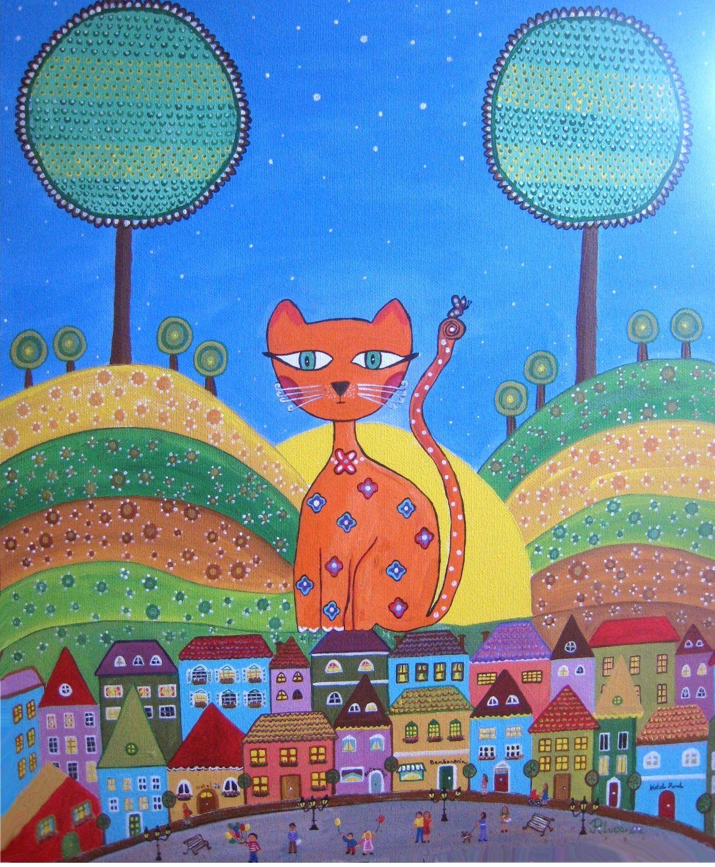 El gato sobre los tejados