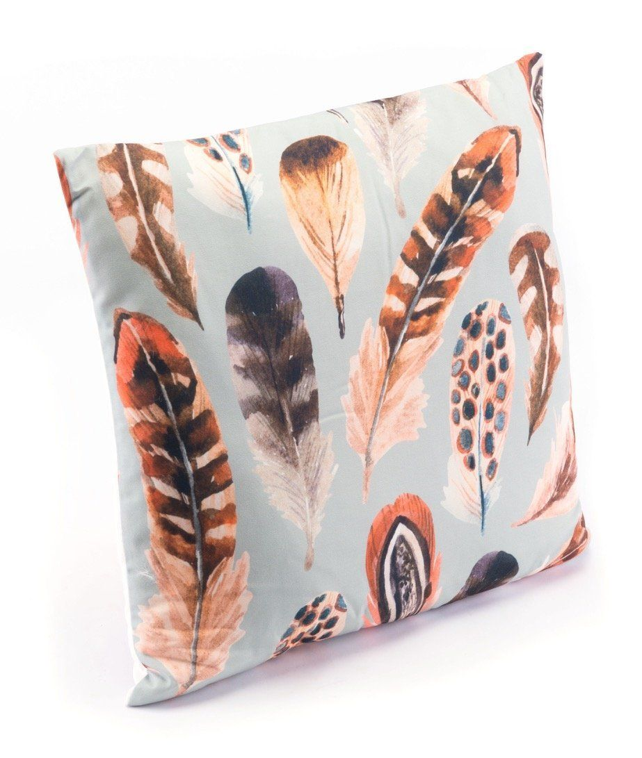 Plumas One Pillow in Multicolor (Set of 4) Throw pillows