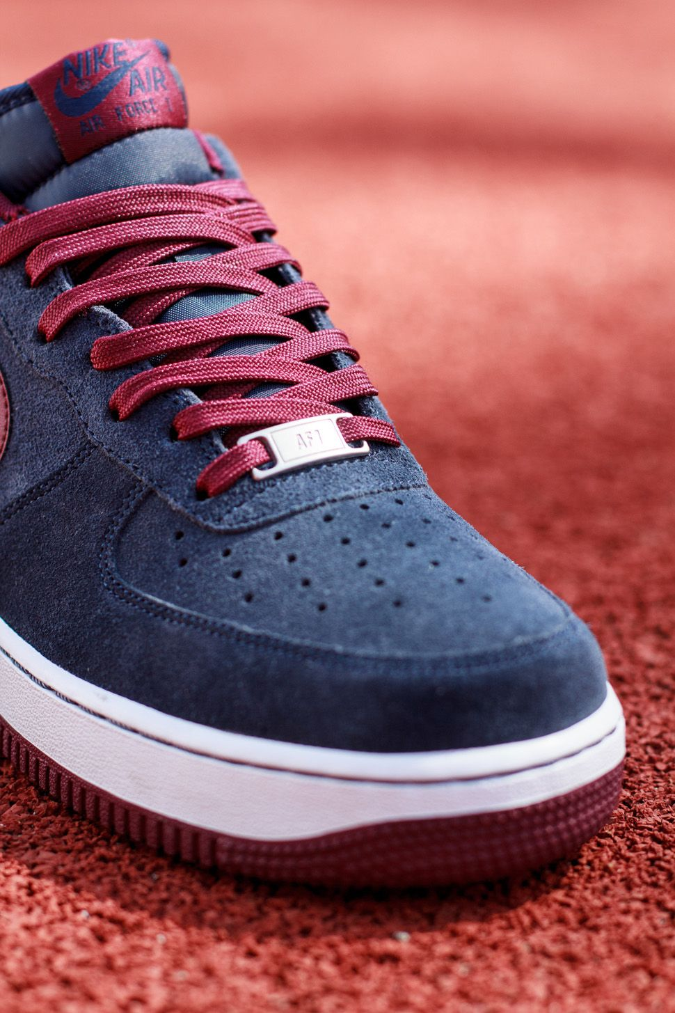 new concept 377fb 2f509 Nike Air Force 1 Low  Midnight Navy Deep Garnet