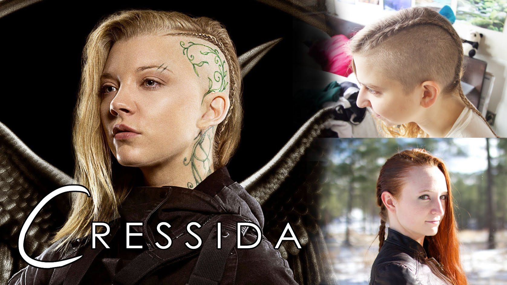 Hunger Games Hair Tutorial , Cressida (for both shaved and