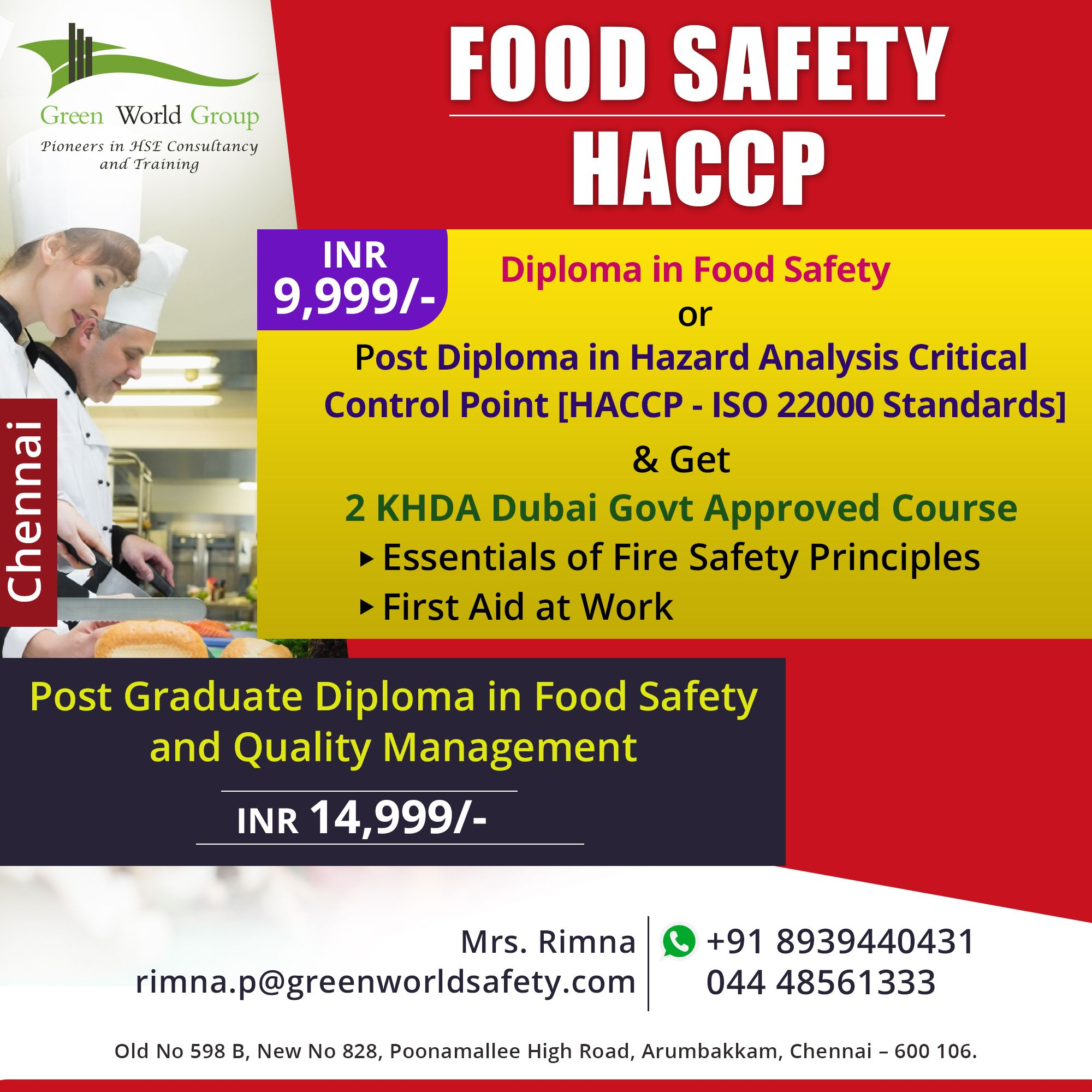 Haccp Certification course Training in India Food safety
