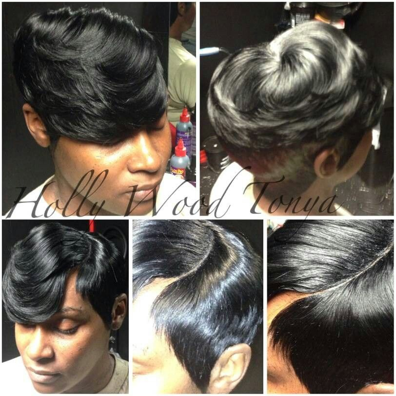 Pin By Juanette Plato On Short Quick Weave 27 Piece Hairstyles Hair Pieces Short Hair Styles