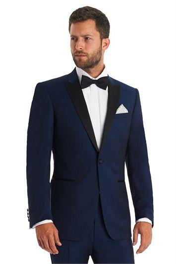 714997fa535cd5 Moss 1851 Tailored Fit Bright Blue Tuxedo | Love Men's Fashion
