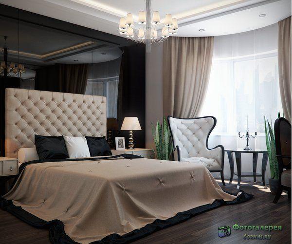 Интерьер жилого дома Галерея 3dddru: Спальня в стиле Арт-деко фото