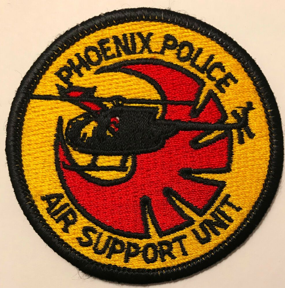 Phoenix Police Arizona Air Support Helicopter Aviation Patch Police Police Patches State Of Arizona