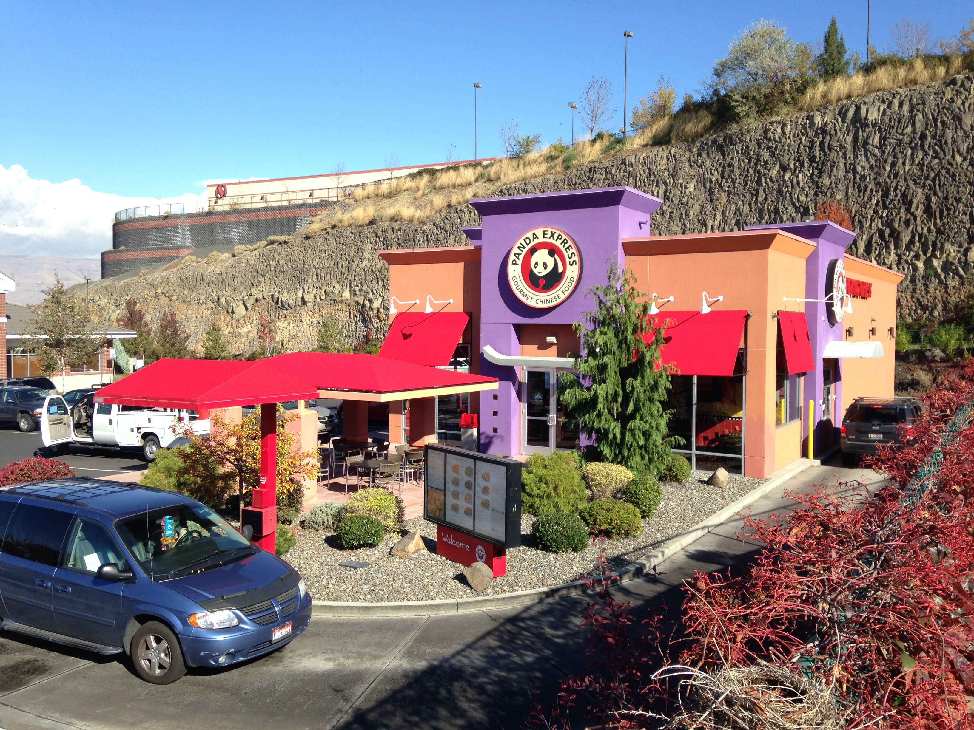 Vestis Systems Just Designed Built And Installed New Fabric Awnings For Panda Express In Lewiston Id View More Of Our Work Fabric Awning Lewiston Building