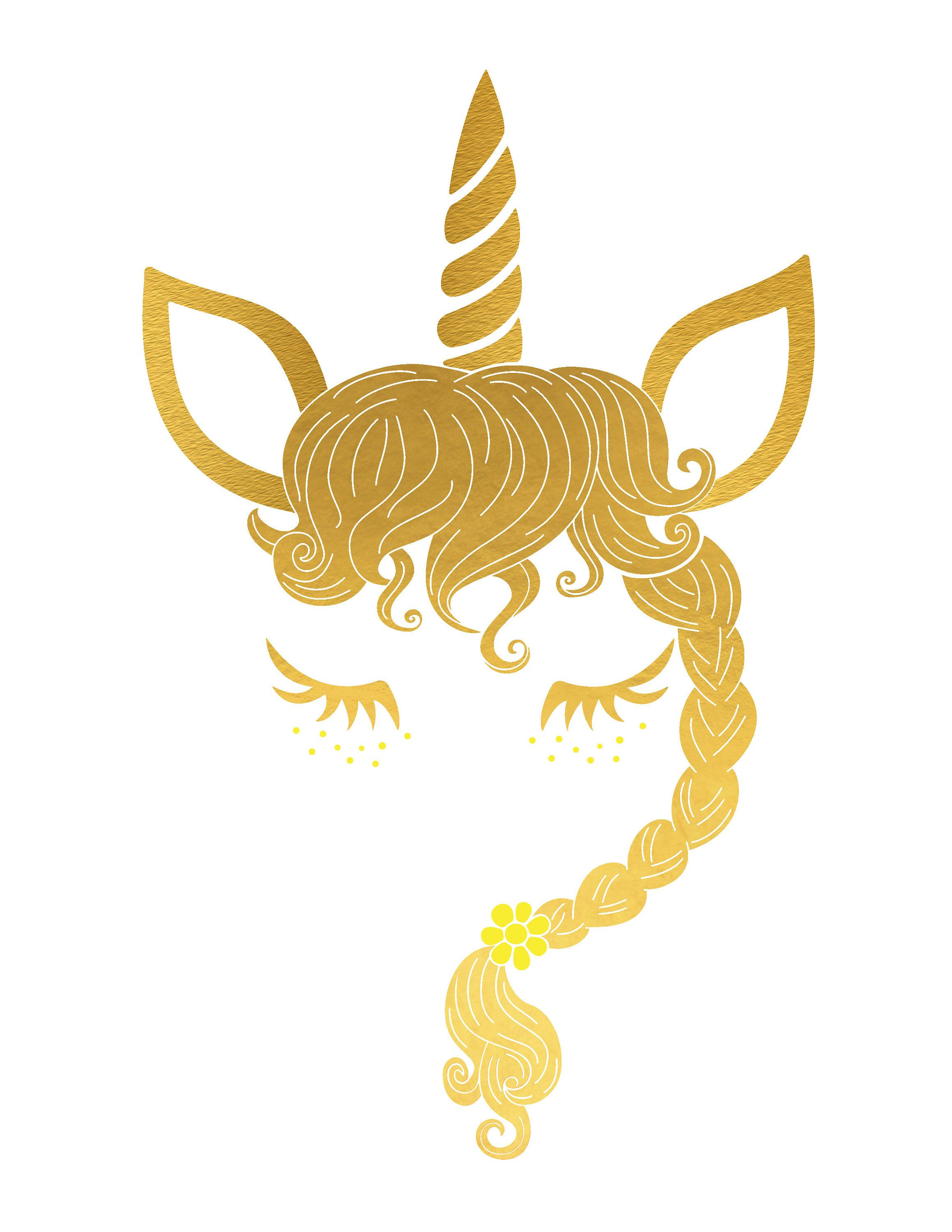 Hand Drown Unicorn Head With Tail 105 Svg Dxf