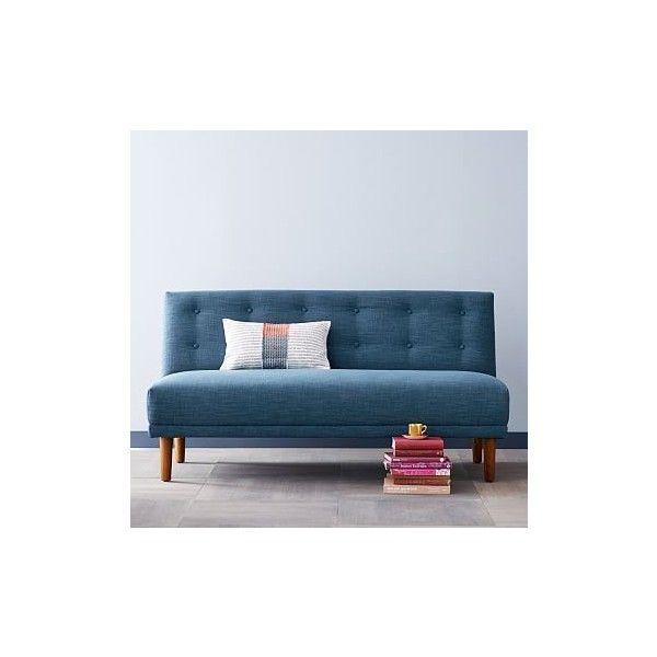 West Elm Blue sofa