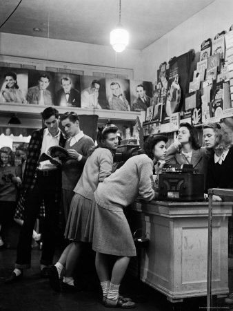 Vintage Record Store | 1950s Teen Fashion