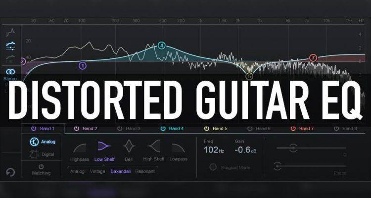 Distorted Guitar Eq Guitar Music Tutorials Music Mixing