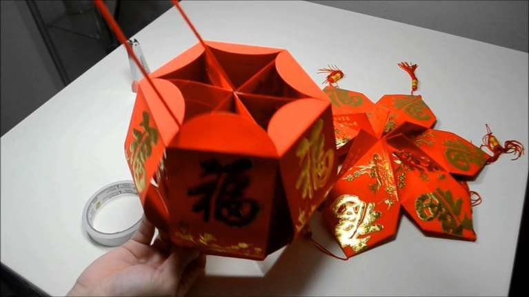 Lovely Chinese origami Lantern (With images) | Origami ...