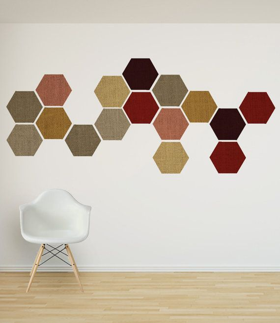 Linen Effect Removable Honeycomb Wall Decal X6 By Nicematches
