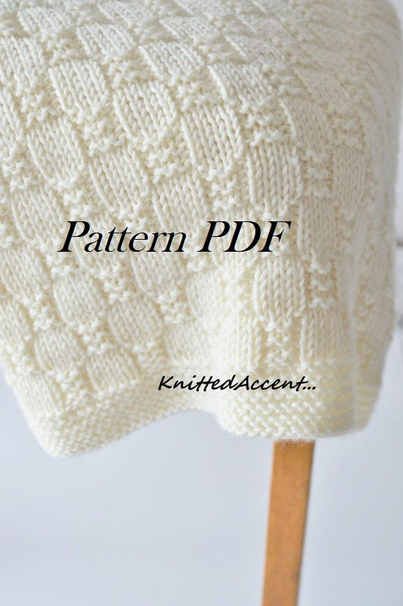 Baby blanket- KNITTING PATTERN only - not a final product! Pattern ...