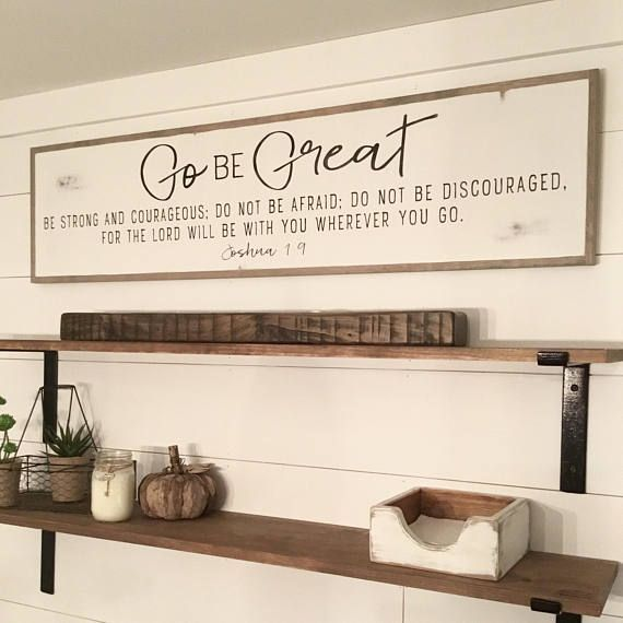 Go Be Great 1 X4 Sign Distressed Shabby Chic Renovating
