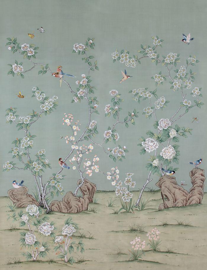 paul montgomery chinoiserie wallpaper papier peint pinterest papel pintado papel y. Black Bedroom Furniture Sets. Home Design Ideas
