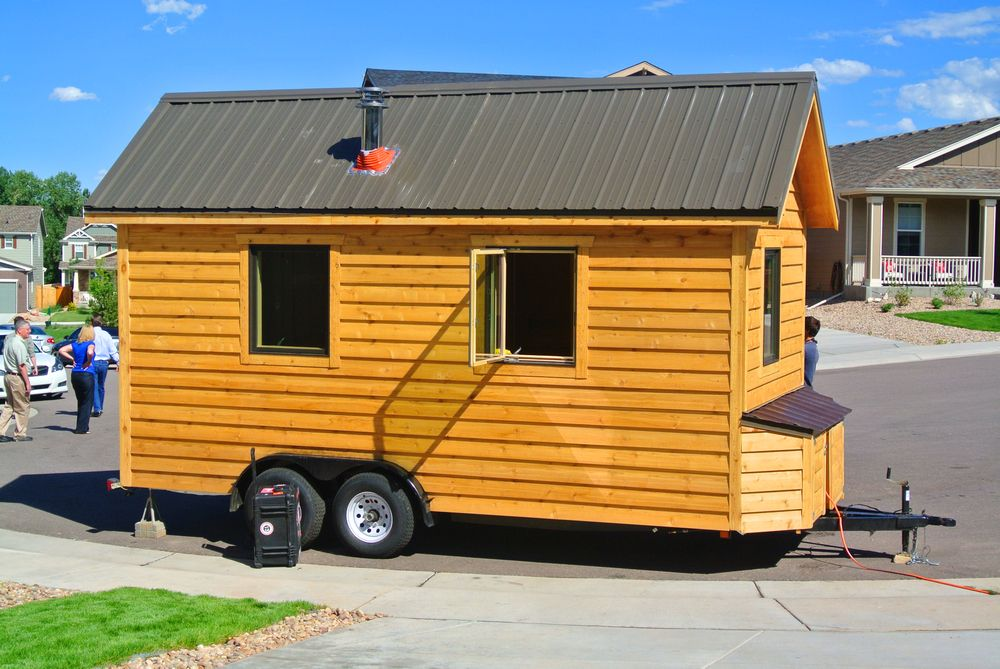 Custom SIP Tiny House (As Seen on TV Tiny house exterior