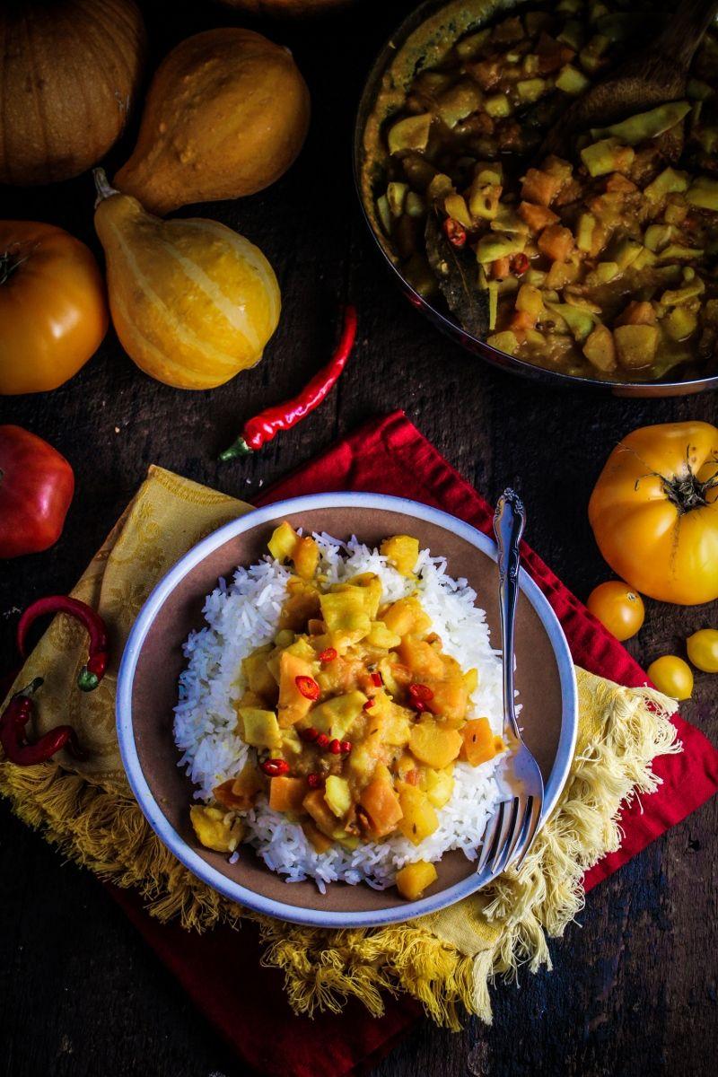 Cooking from the Garden // Bangladeshi Yellow Pumpkin Curry   Dinner ...