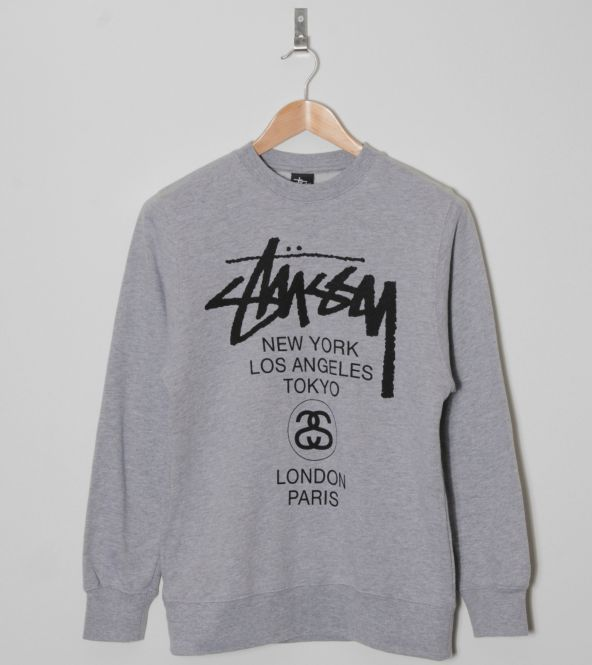 3e2123b14e Buy Stussy World Tour Sweatshirt - Mens Fashion Online at Size ...