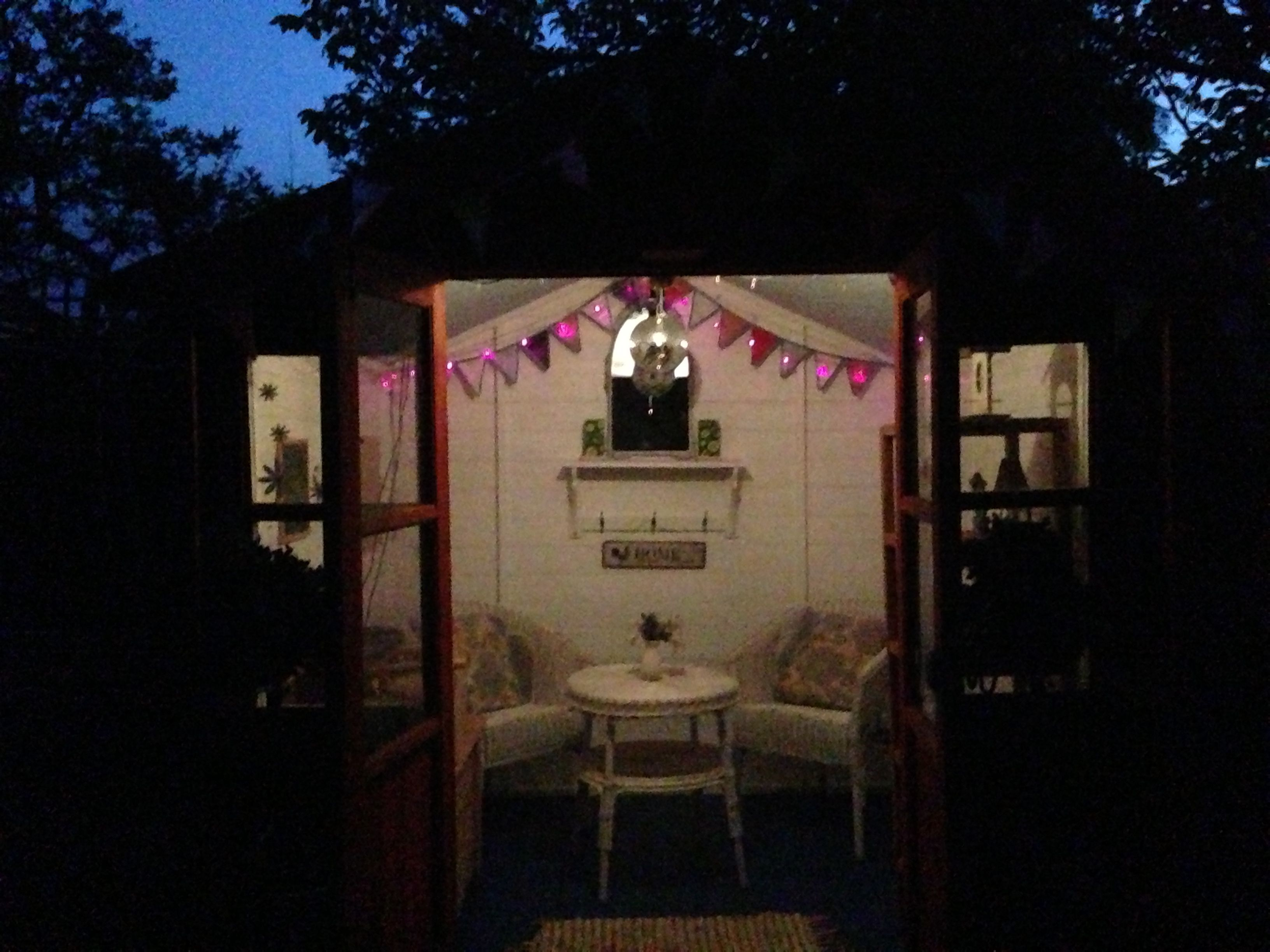 summer house lighting. My Newly Decorating Summerhouse Interior With Solar Lights Freshly Installed. :) Roll On Warmer Summer House Lighting