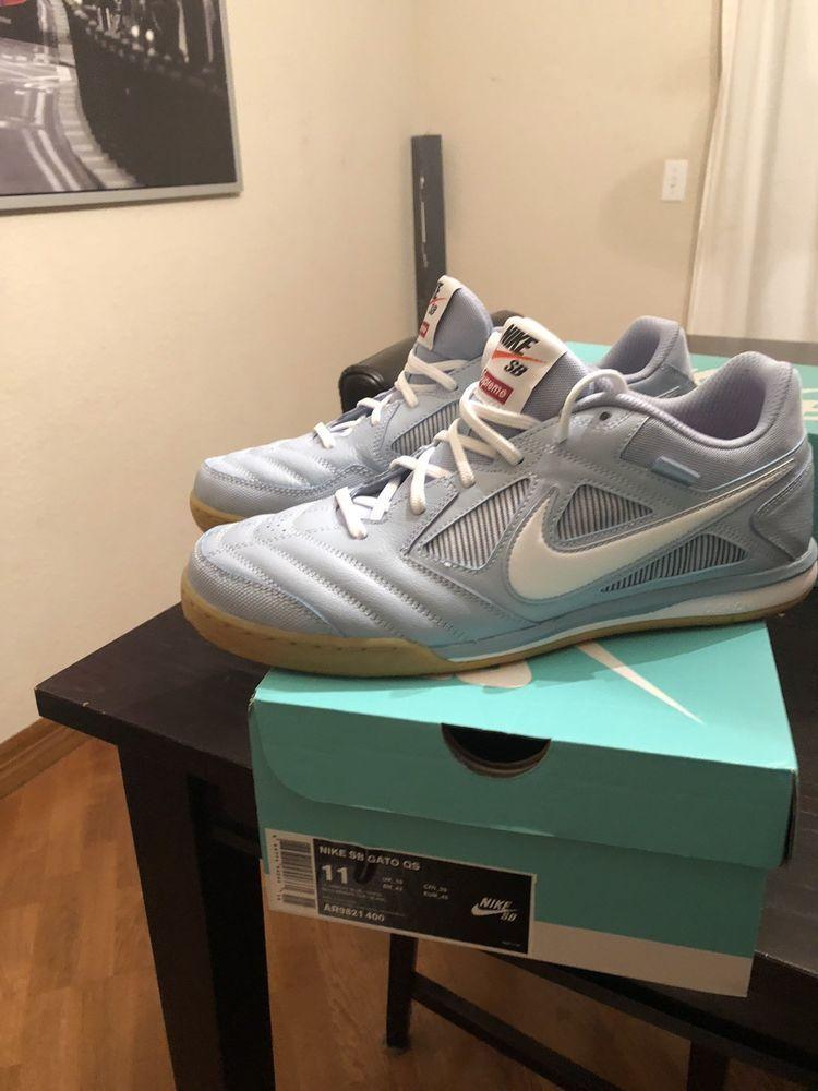 Nike SUPREME SB Gato QS AR9821 400 Light Blue Colorway Dead