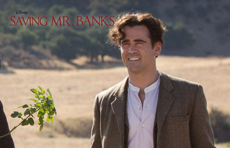 Colin Farrell as Travers Robert Goff in 'Saving Mr Banks'- captivating performance