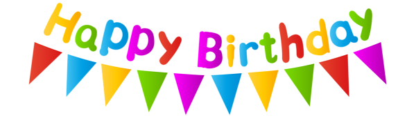 Happy Birthday With Streamer Png Clip Art Image Clip Art Art Images Happy Birthday Png