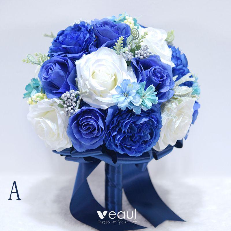 Beautiful Royal Blue Wedding Flowers